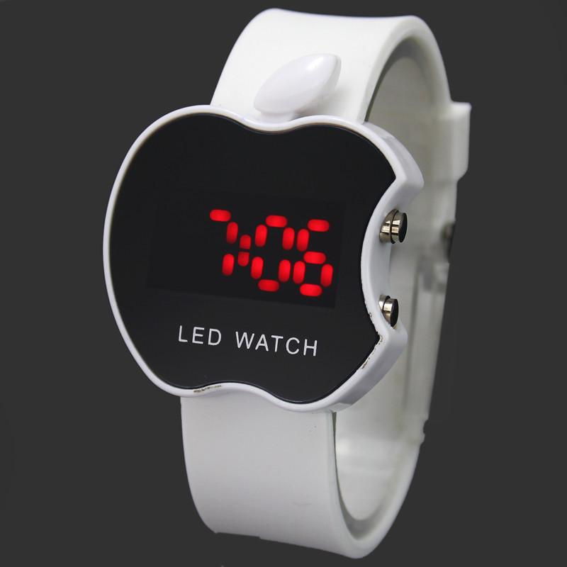 LED-часы в форме яблока