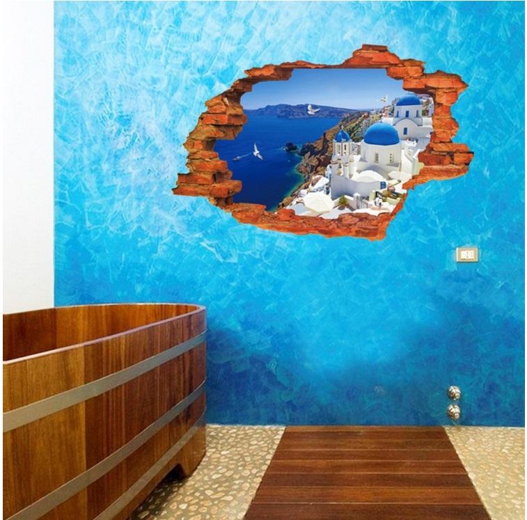 Виниловая наклейка Вид на море 3D