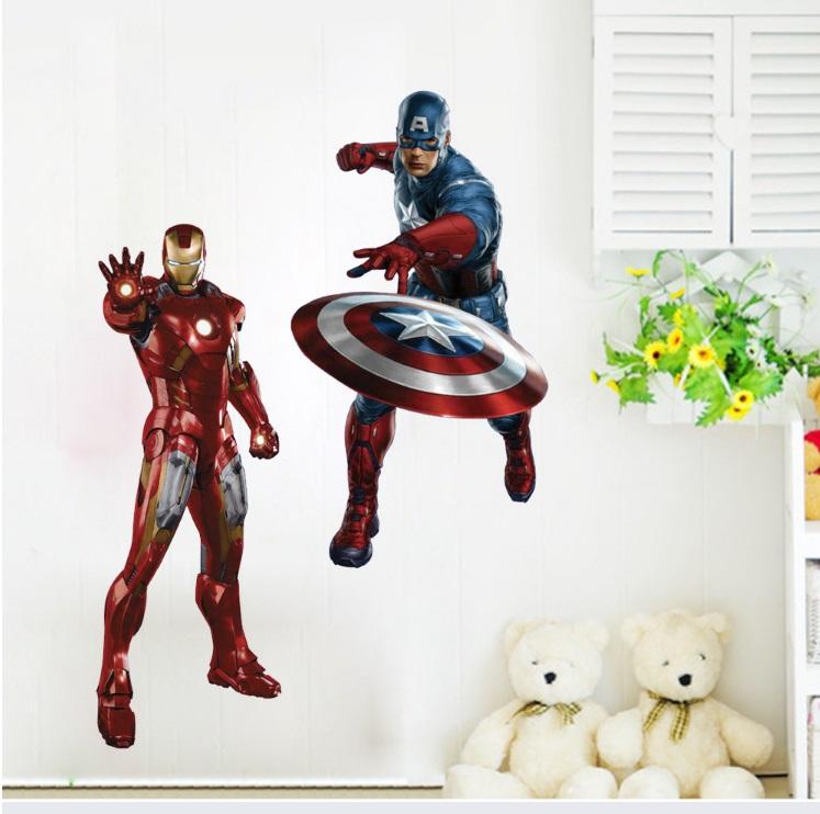 Виниловая наклейка Мстители 3D