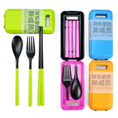 Travel-outdoor-portable-chopsticks-spoon-fork-set-eco-friendly-folding-of-the-wild-font-b-cutlery